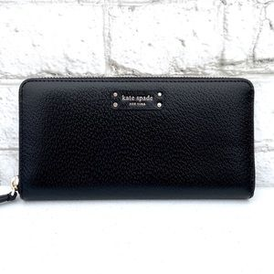 Kate Spade Large Black Continental Leather Wallet